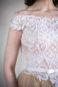 Пышное платье цвета пудры с кружевом Гофре - 4