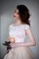 Пышное платье цвета пудры с кружевом Гофре - 3