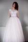 Пышное платье цвета пудры с кружевом Гофре - 7