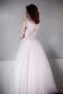 Пышное платье цвета пудры с кружевом Гофре - 5