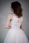 Пышное платье цвета пудры с кружевом Гофре - 6