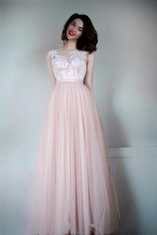Свадебное платье с кружевом Миланна 1